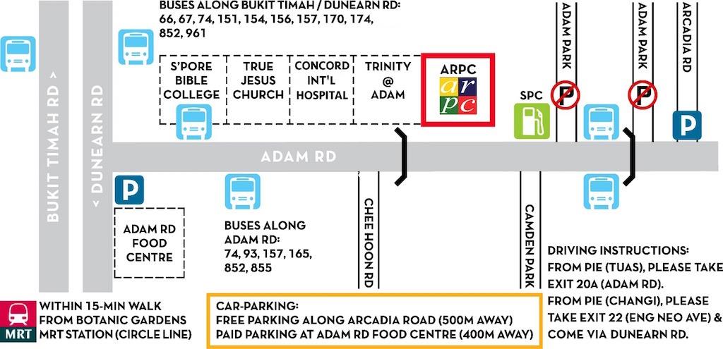 Getting to Adam Road Presbyterian Church (2021)